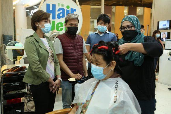"""Simak Terapan Protokol Kesehatan dari """"The Hair Nets""""  Mall Of Indonesia"""